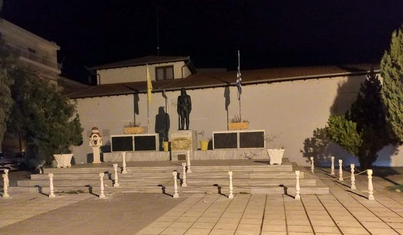 Νέος βανδαλισμός στο μνημείο των Ποντίων στην Αλεξάνδρεια Ημαθίας!